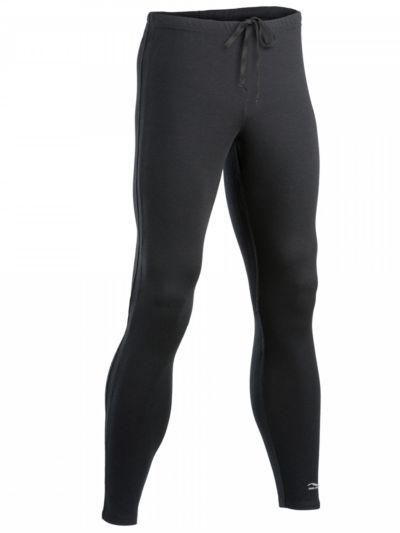 Legging laine et soie pour le sport 240 gr/m2, homme, noir