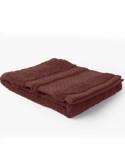 Serviette 100% coton bio 600 g/m2, 50X90 cm, amarante, fabriqué au Portugal, GOTS