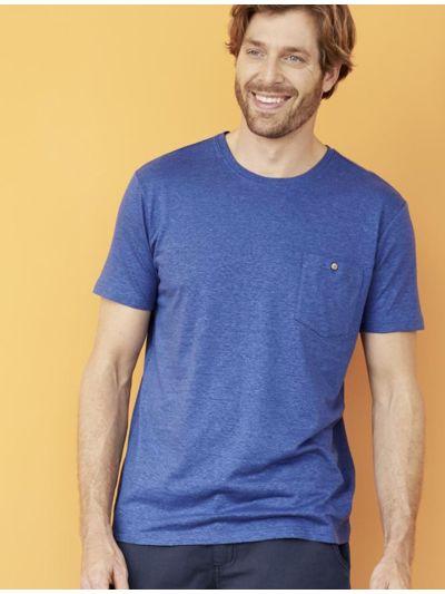 T-shirt coton/chanvre bio, homme, océan, GOTS