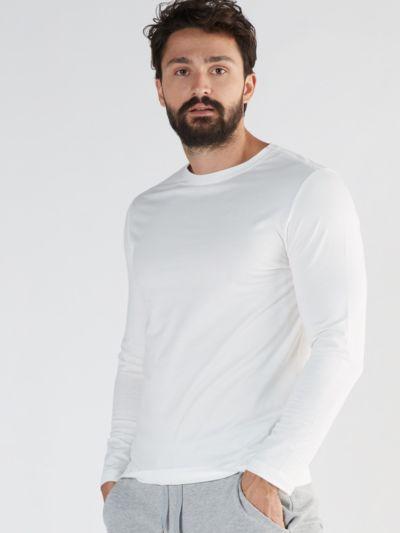 T-shirt 58% coton bio, 39% Modal 3% Elastane, blanc