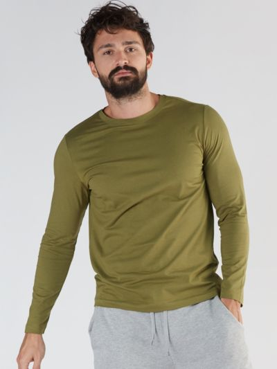 T-shirt 58% coton bio, 39% Modal 3% Elastane, olive