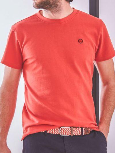 T-shirt 100% coton bio maille piqué BILLYBELT pastèque, GOTS