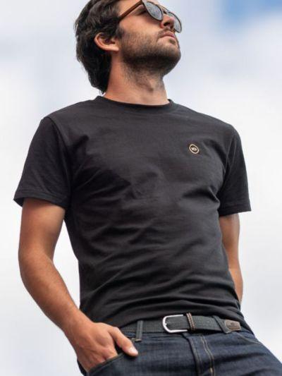 T-shirt 100% coton bio BILLYBELT noir, GOTS