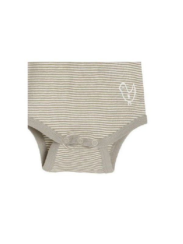 Body coton bio bébé unisexe, manches longues rayé
