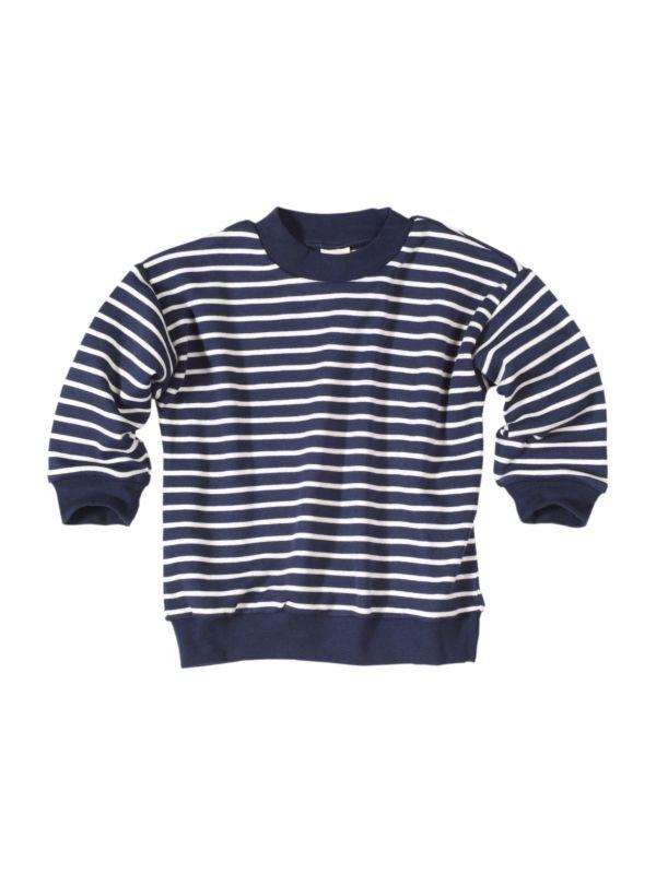 Pyjama coton bio de 1 à 11 ans  rayé marine et blanc