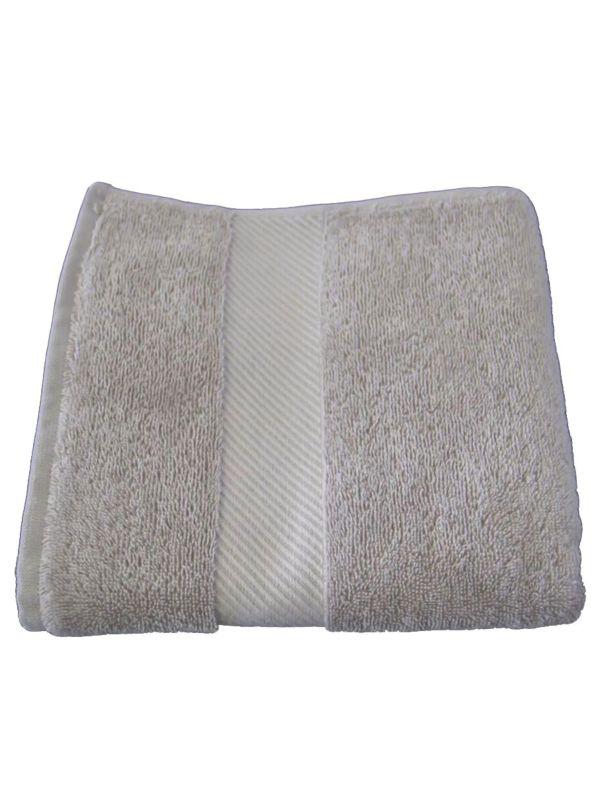 Serviette 100X50 cm coton bio Beige minéral GOTS