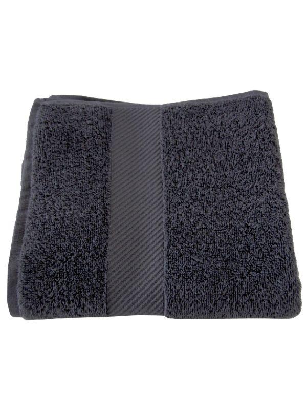 Serviette 100X50 cm coton bio Gris minéral GOTS