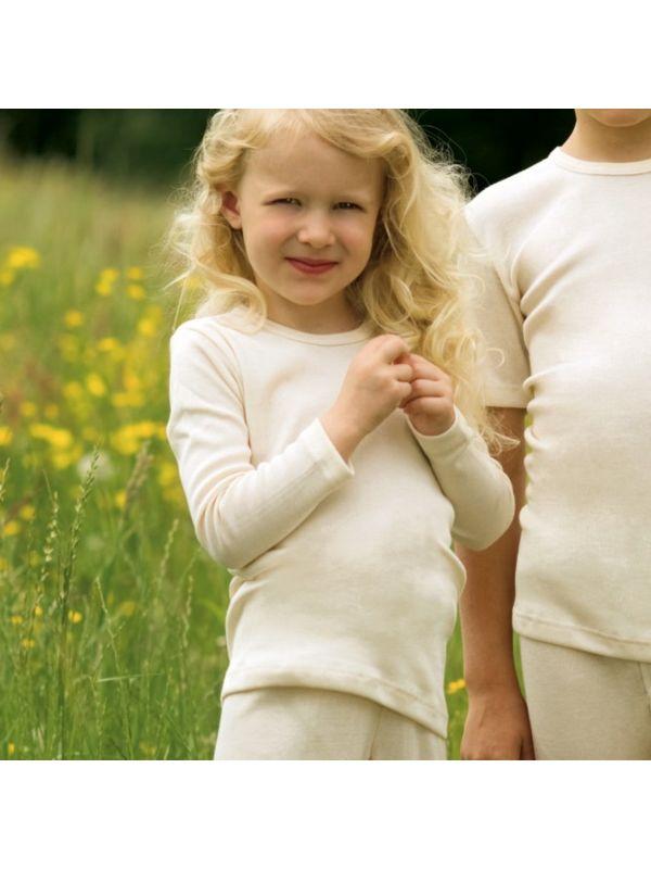 Enfant tricot laine et soie unisexe Naturel de 2 à 17 ans