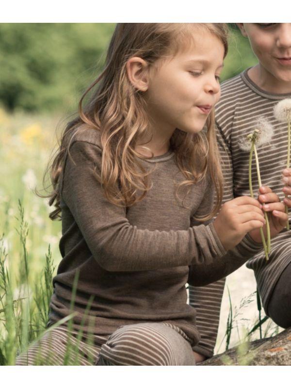 Enfant tricot laine et soie unisexe Noix de 2 à 17 ans