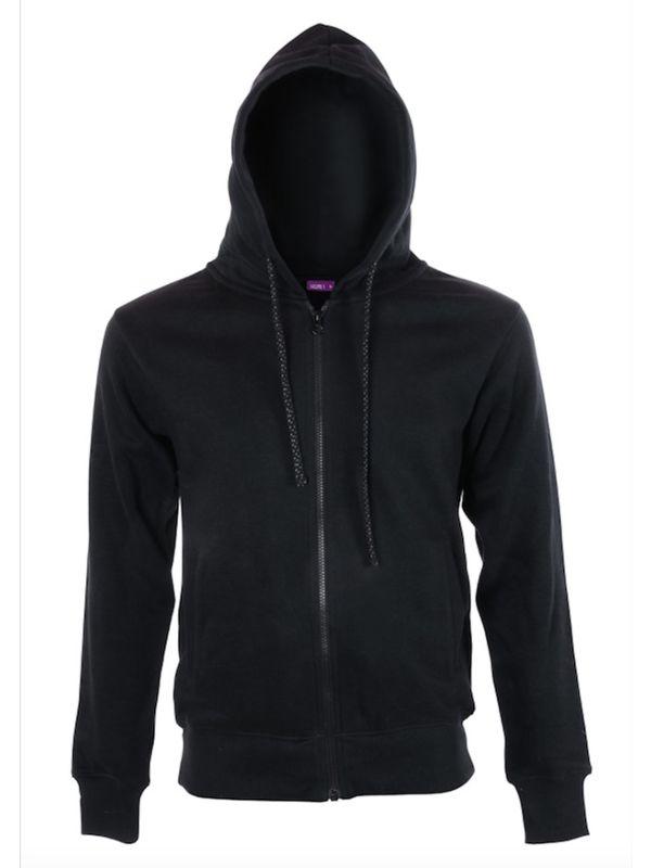 Veste à capuche coton bio Homme Noir