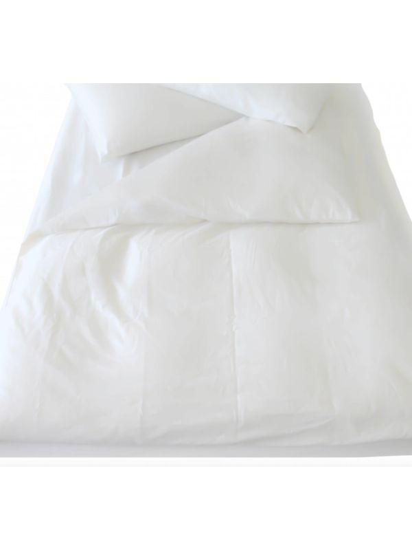 Housse de couette coton bio 260X240 GOTS coloris Blanc cassé
