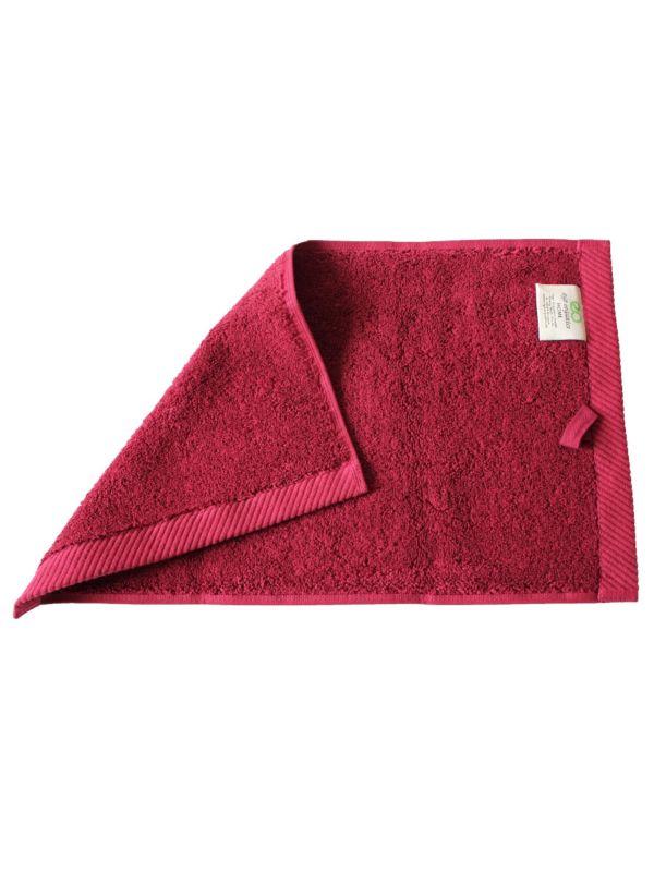 Serviette coton bio 600 g/m2, 30X50 cm, Bordeaux GOTS
