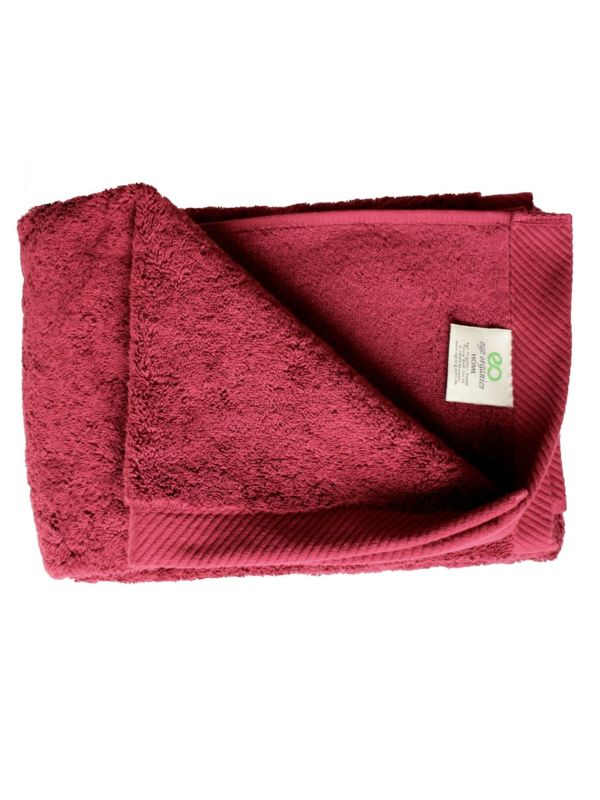 Serviette coton bio 600 g/m2, 50X100 cm, Bordeaux GOTS