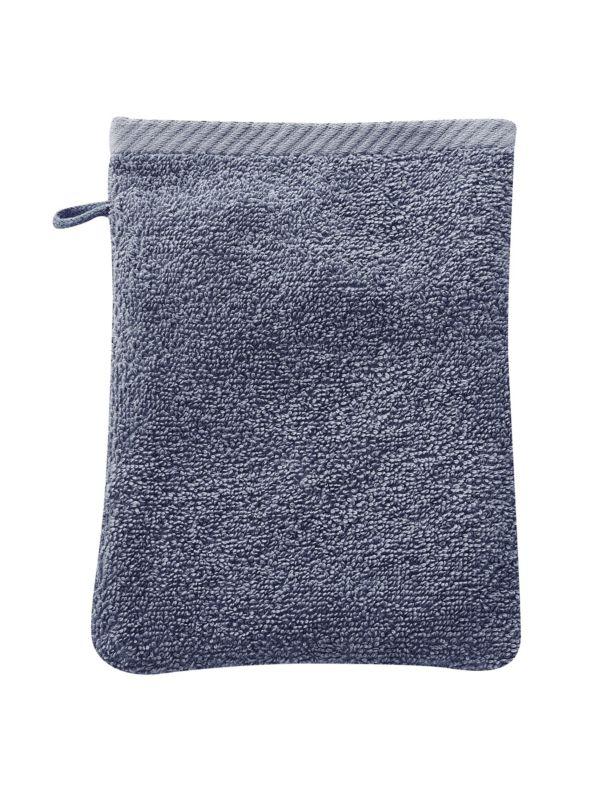 Gant de toilette coton bio Bleu minéral