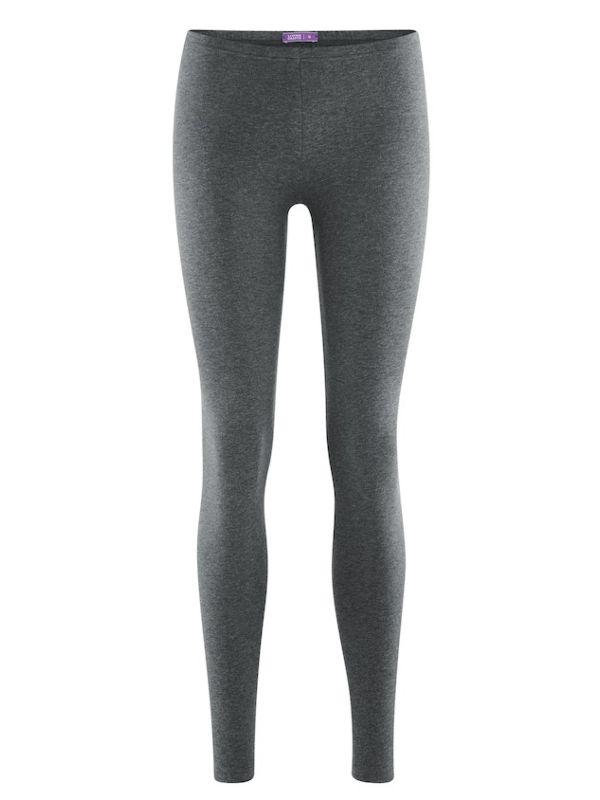 Legging coton bio long femme Gris foncé