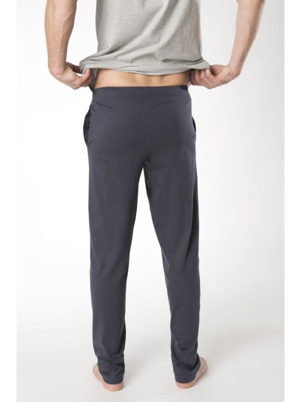 Pantalon relax coton bio du S au XXL Bleu foncé