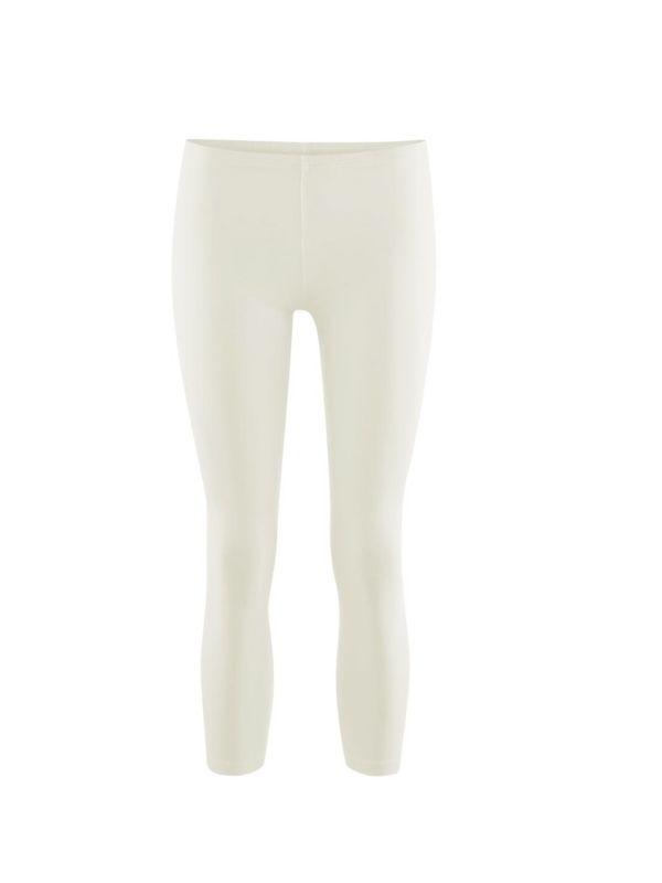 Legging coton bio long femme Blanc