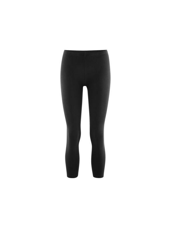 Legging coton bio 7/8 femme Noir GOTS