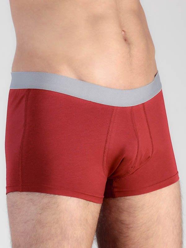 Boxer coton bio homme  Rouge/Gris