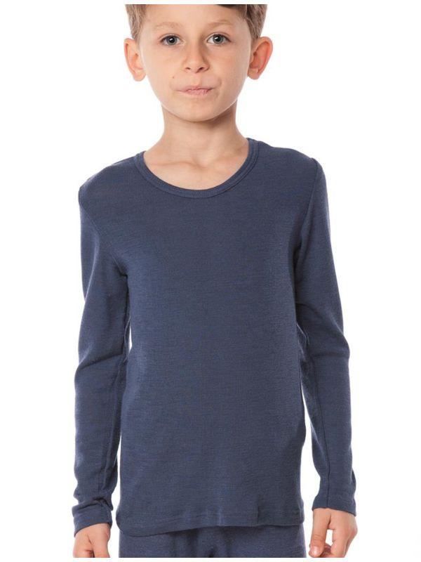 Enfant tricot de peau laine et soie certifié GOTSunisexe Marine taille 92