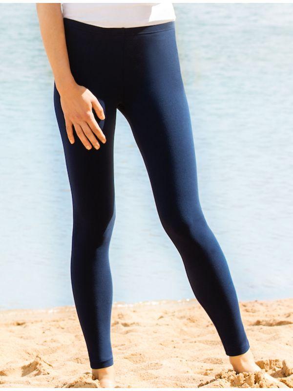 Legging coton bio long femme Marine