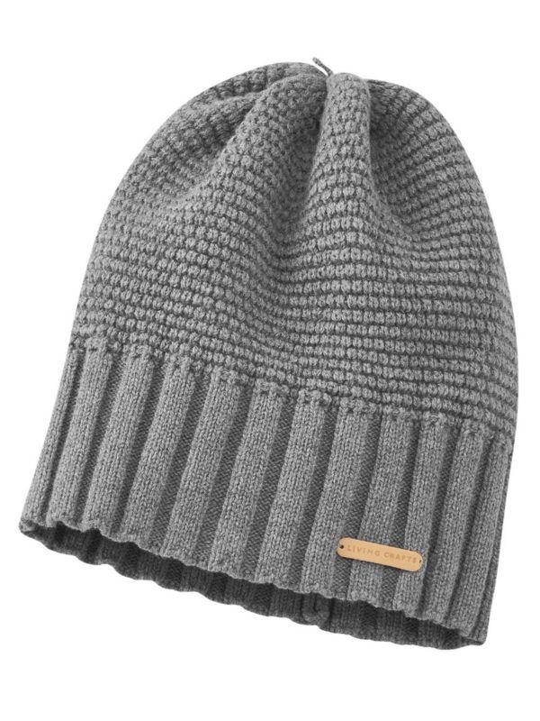 Bonnet coton/laine bio Gris GOTS