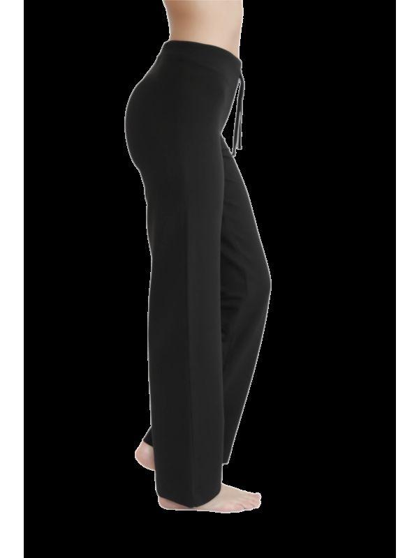 Pantalon coton bio sport femme Noir