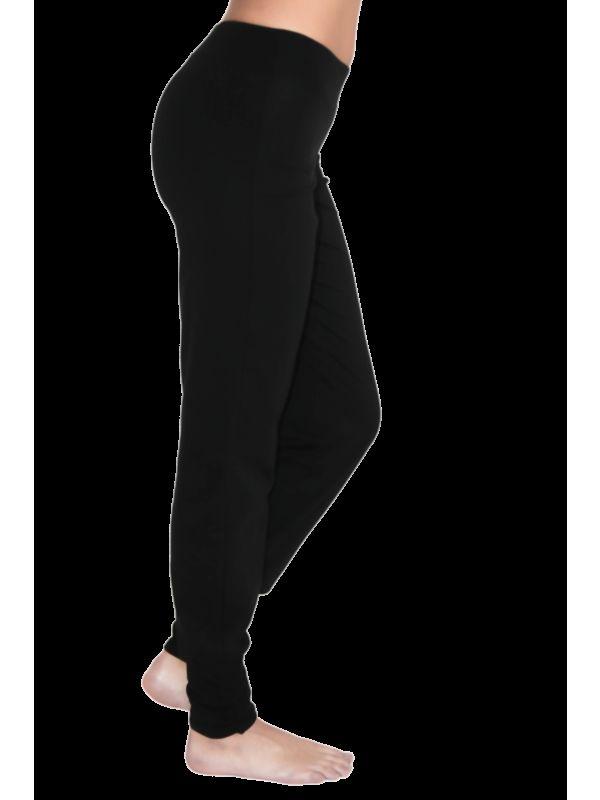 Pantalon coton bio Yoga bas resserré femme naturel