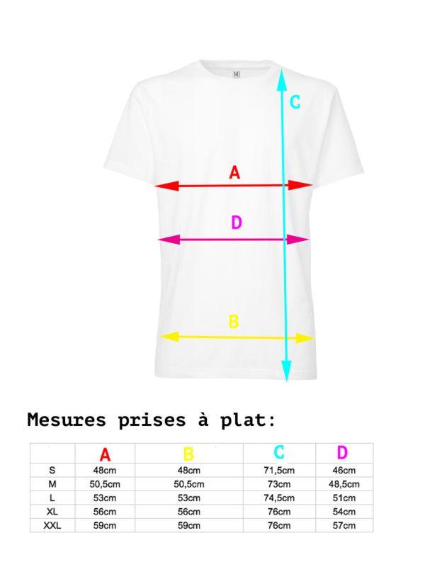 T-shirt 100% coton bio pour homme Blanc GOTS