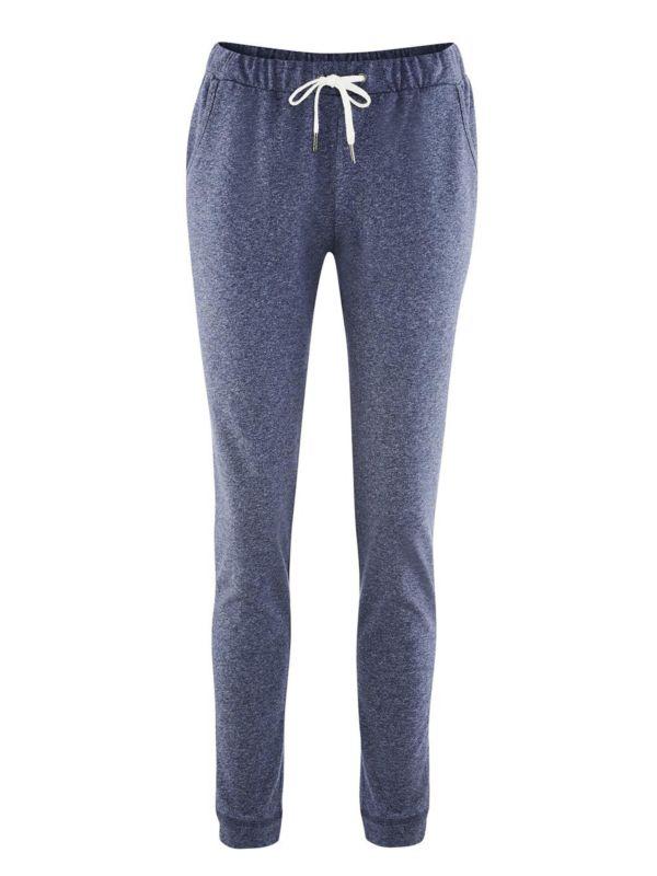 Pantalon/jogging coton bio Bleu chiné