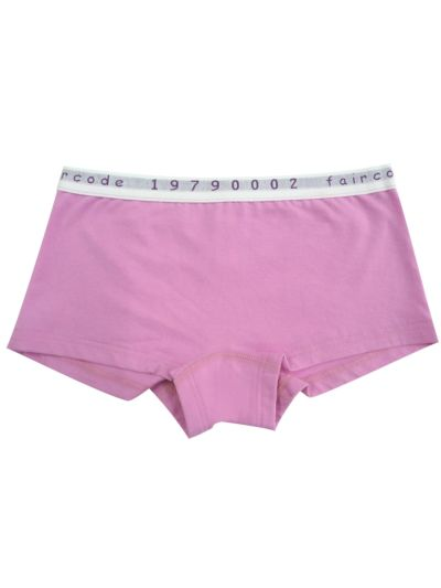 Shorty coton bio Rose GOTS
