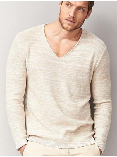 Pull coton/lin bio S Homme Naturel