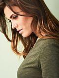 Living Crafts T-shirt coton bio Femme col rond, Kaki