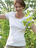 Living Crafts T-shirt coton bio Femme col rond, Blanc
