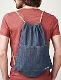 Sac Jean 100% coton bio avec cordons de serrage GOTS