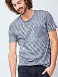 T-shirt 100% coton bio rayé Bleu GOTS