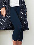 Legging coton bio 3/4 femme Bleu foncé GOTS