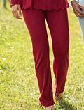 Pantalon de pyjama laine et soie Femme Rouge rubis