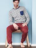 Pyjama 100% coton bio Homme Velo Rosso