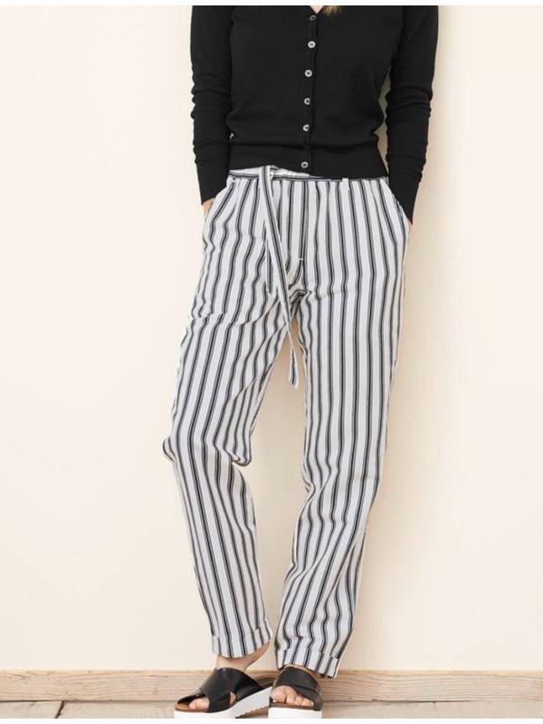 pantalon femme noir et blanc